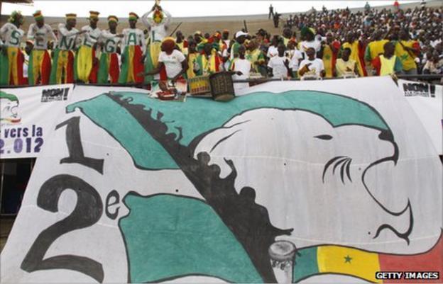 Senegalese football fans