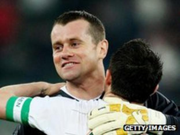 Shay Given and Robbie Keane
