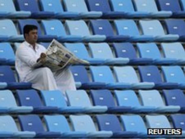 There was swathes of empty seats at the Dubai International Stadium
