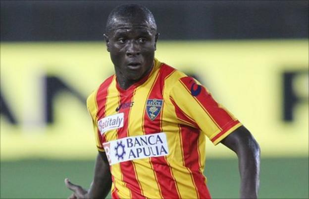 Rodney Strasser in action for Lecce