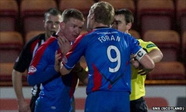 Jonny Hayes, Richie Foran and Euan Norris
