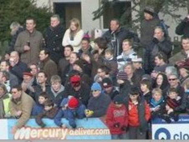 Fans at St Peter