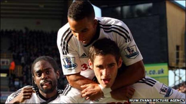 Nathan Dyer, Scott Sinclair and Danny Graham