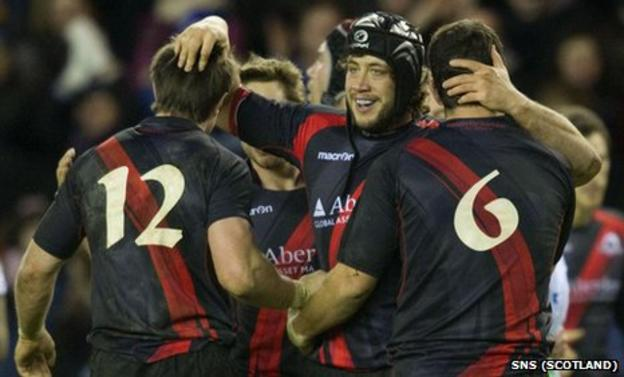 Edinburgh players celebrating
