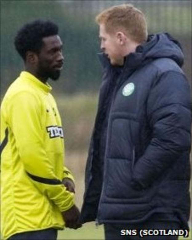 Rabiu Ibrahim and Neil Lennon