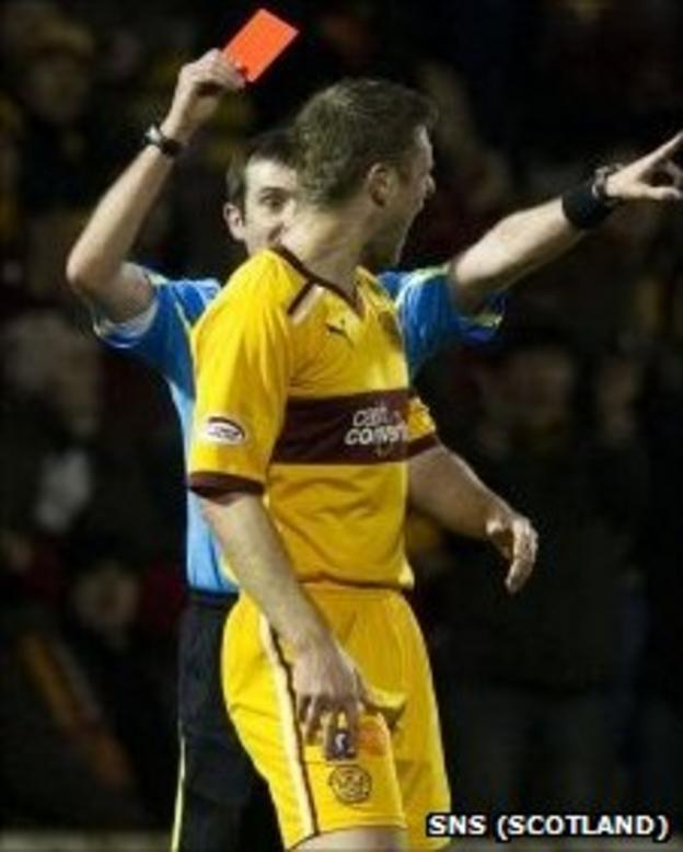 Stephen Craigan is sent off