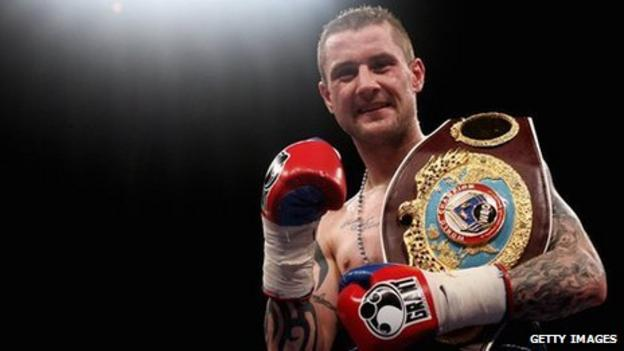 Scottish boxer Ricky Burns