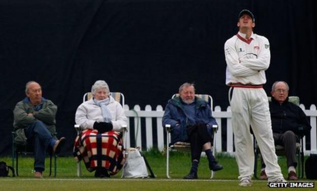 County cricket spectators