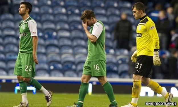 Hibs were thumped 4-0 at Ibrox