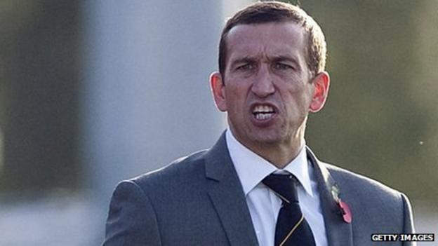 Newport County manager Justin Edinburgh