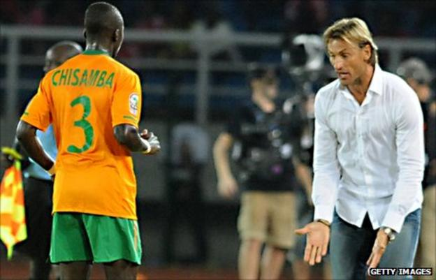 Zambia's French coach Herve Renard says his players should not rush forward into attack