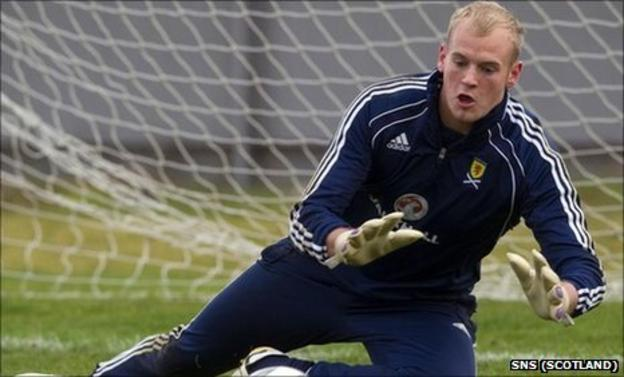 Scotland Under-21 goalkeeper Mark Ridgers