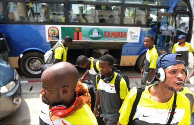 Zambia's Nations Cup football squad