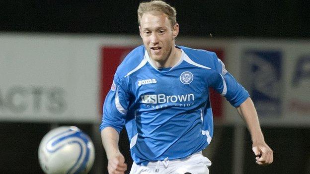 St Johnstone defender Steven Anderson