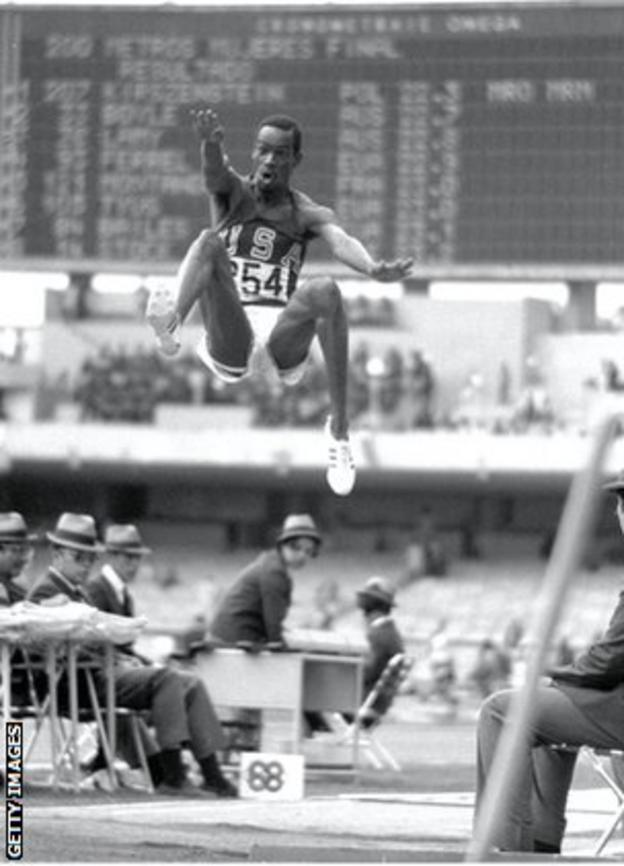 Bob Beamon's historic leap in 1968