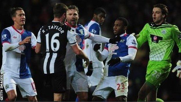 Tempers threatened to boil over in a heated game at Ewood Park