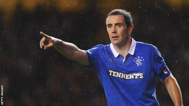 David Weir in his playing days at Rangers