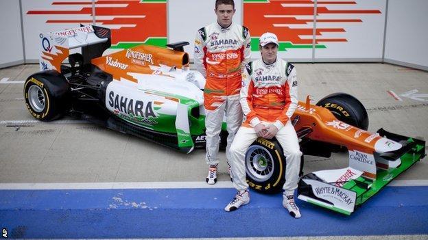 Paul di Resta and Nico Hulkenberg