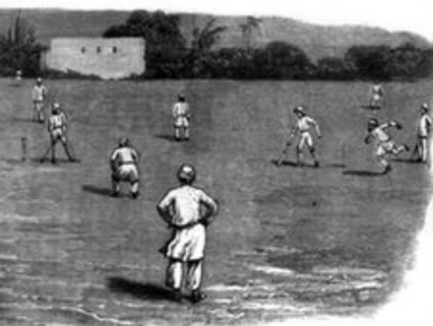 An early cricket game
