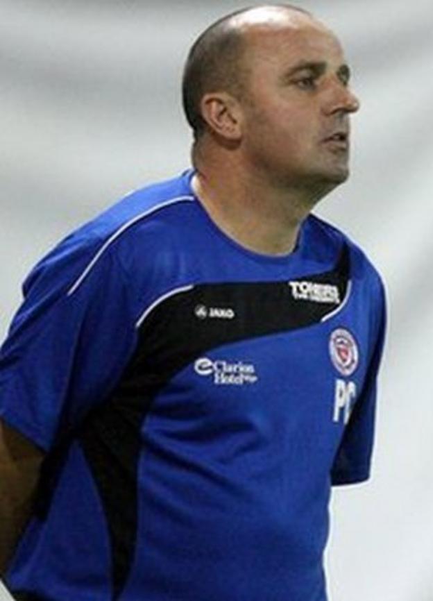 Sligo Rovers manager Paul Cook
