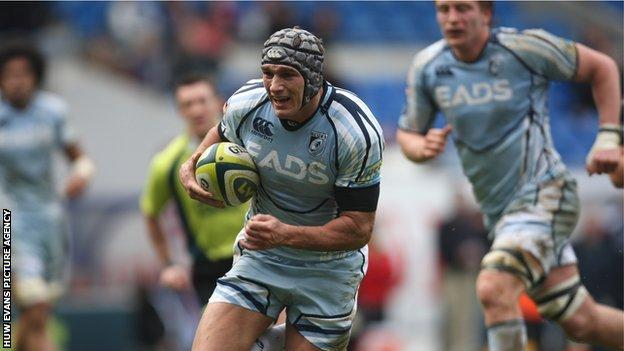 Wing Tom James starred for Cardiff Blues with four tries