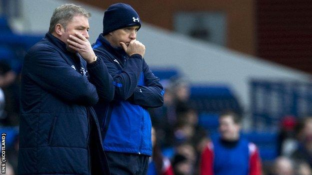 Rangers manager Ally McCoist and Kenny McDowall