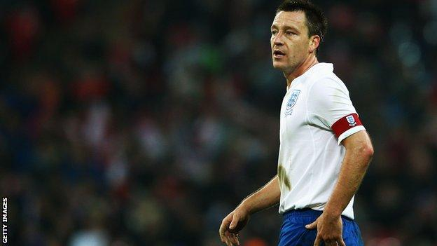 England defender John Terry