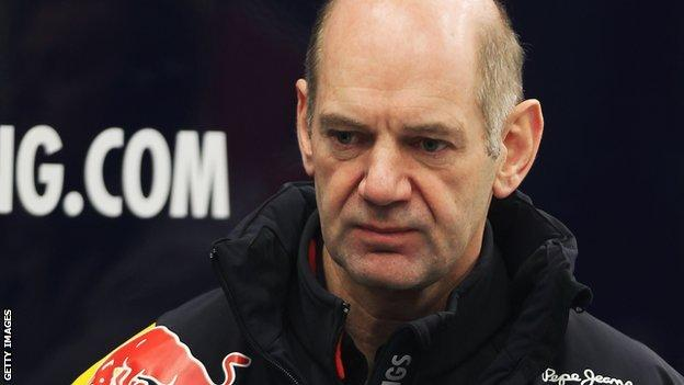 Red Bull design chief Adrian Newey