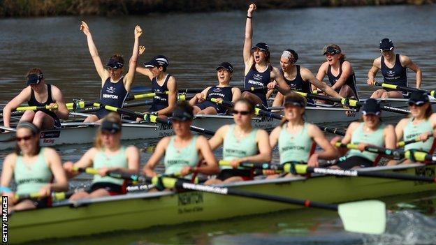 Oxford beat Cambridge by a length in last year's women's Boat Race