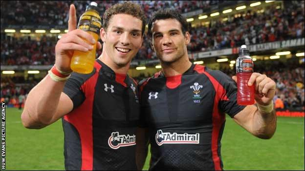 George North and Mike Phillips