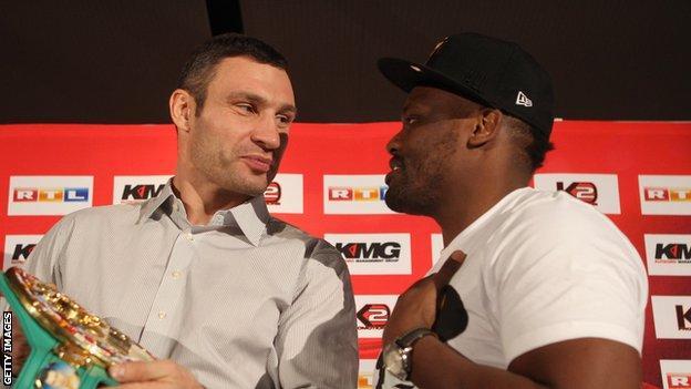 Dereck Chisora is aiming to take Vitali Klitschko's WBC title