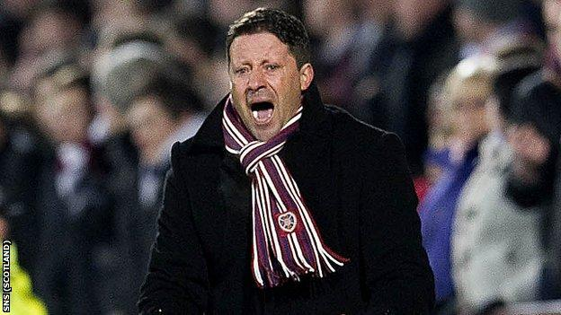 Hearts manager Paolo Sergio