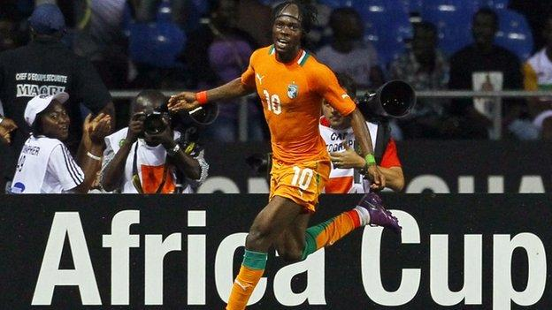 Gervinho scored Ivory Coast's winner against Mali to put them through to the final against Zambia