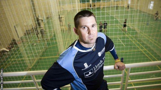 Scotland cricket coach Peter Steindl