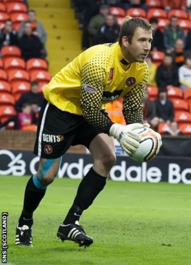 Dundee United goalkeeper Dusan Pernis
