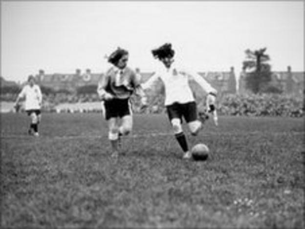 An early women's football match