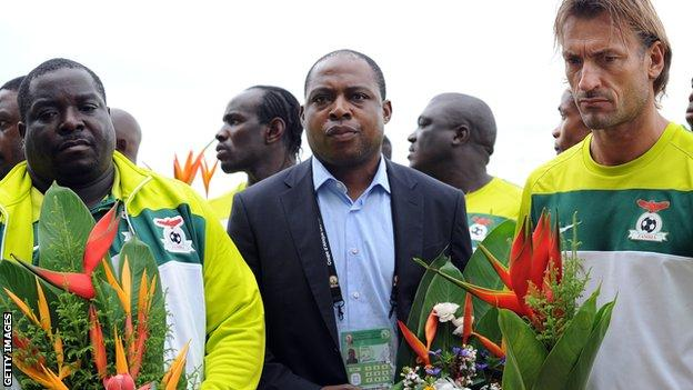 Zambia players and officials pay their respects