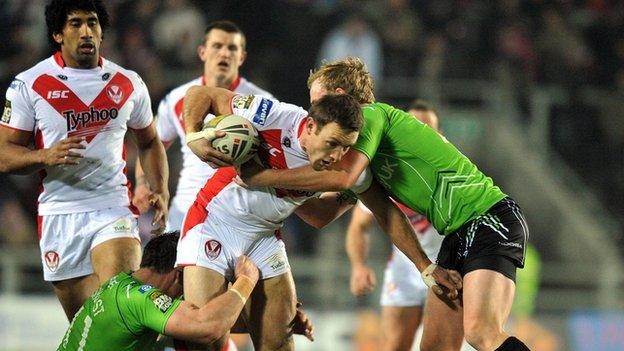 St Helens see off Salford City Reds in Super League clash