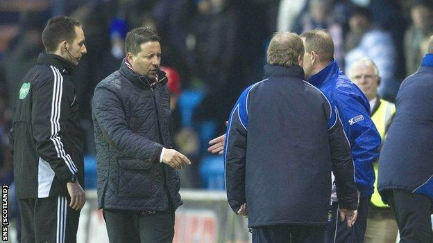 Paulo Sergio would not shake hands with Kenny Shiels before or after the game