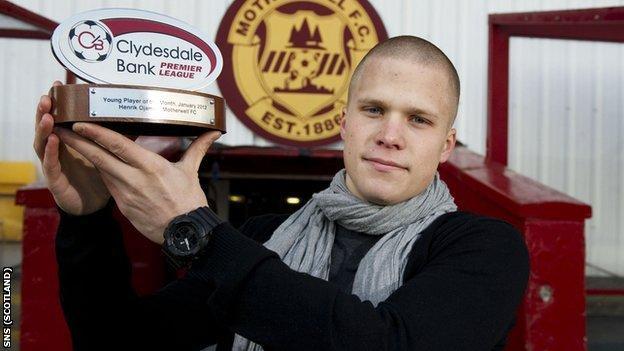 Motherwell striker Henrik Ojamaa