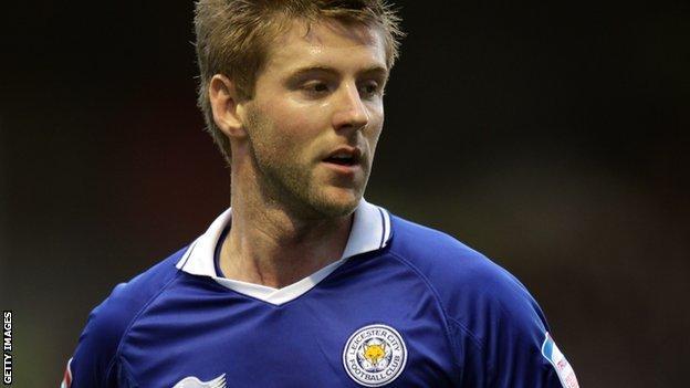Leicester City striker Paul Gallagher