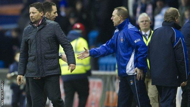 Sergio turned away when Shiels offered his hand at Rugby Park