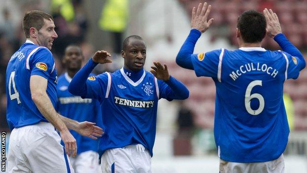 McCulloch (right) put Rangers 2-1 ahead at East End Park