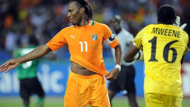 Didier Drogba missed a penalty for Ivory Coast