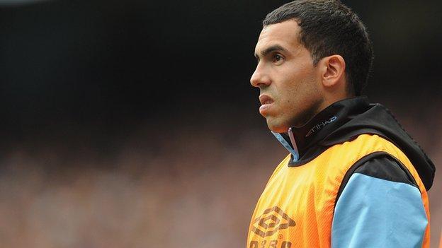 Manchester City forward Carlos Tevez