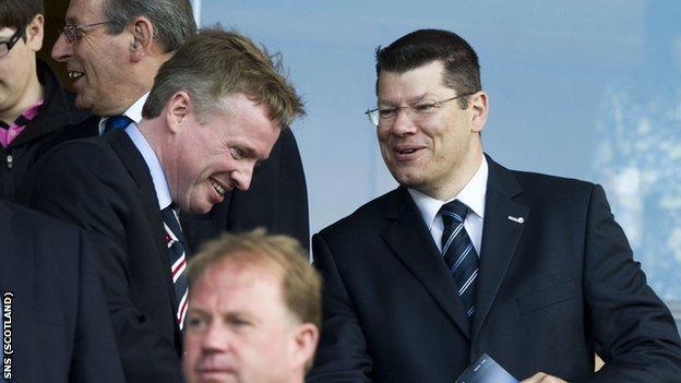 Rangers chairman Craig Whyte and Scottish Premier League chief executive Neil Doncaster