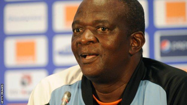 Botswana coach Stanley Tshosane