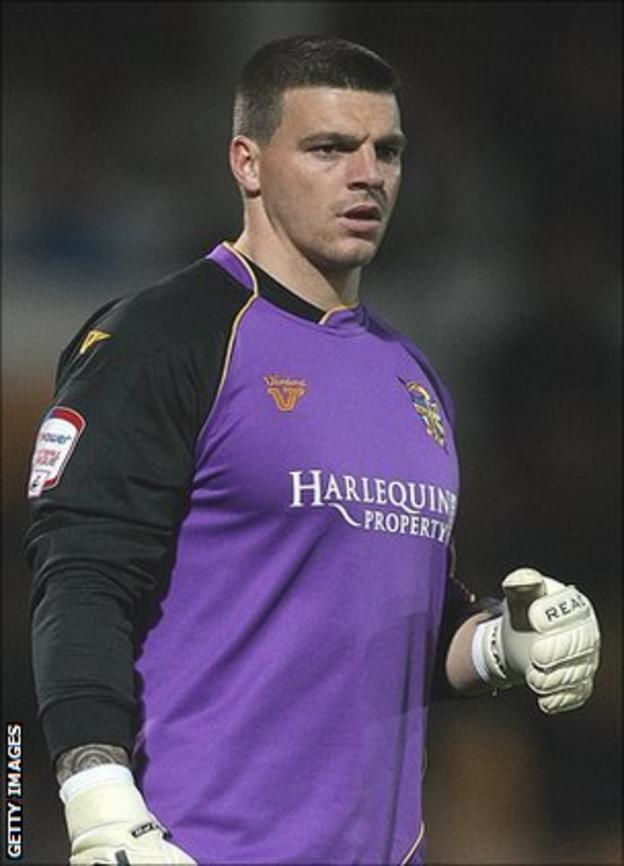 Port Vale goalkeeper Stuart Tomlinson