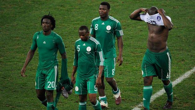 The Nigerian trio last represented the country during their disappointing performance at the 2010 World Cup