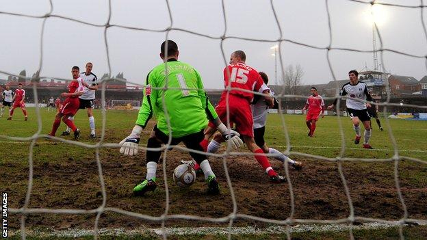 Accrington's Crown Ground could be one of the first to get an artificial surface
